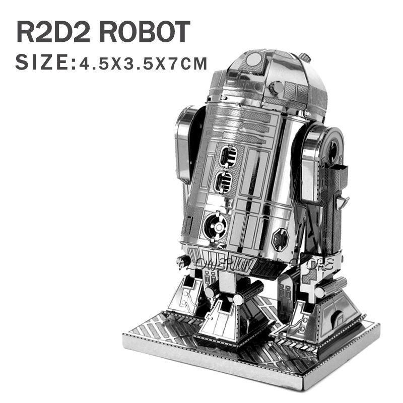 New creative Star Wars 3D model 3D metal puzzles DIY Jigsaws R2D2 Robot Puzzles Adult/Children gifts DIY toys Not need glue(China (Mainland))