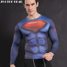 Buy Superman T shirt Compression Men Armor Superhero Costume Crossfit Clothing batman vs superman Tops Long Sleeve Tees ZOOTOP BEAR for $7.40 in AliExpress store