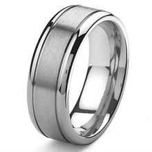 Tailor Made 8mm Mens Grooved Titanium Wedding Band Ring Small Size 3 to Large Size 18 (#TR13)(China (Mainland))