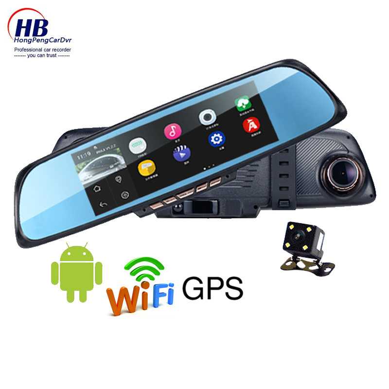 """6.86 """"Touch screen browser 1GB and 16GB Android Mirror Car GPS Navigation DVR dual lens rear camera parking Wi-fi FM Transmit(China (Mainland))"""