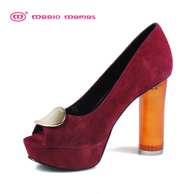 Mariomamas2013 spring summer platform open toe jelly single shoes crystal ultra high heels women - Future idear store