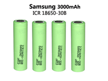 4pcs New 100% Original 18650 ICR18650-30B 3000mAh Li-ion 3.7V Battery For Lptop+Free Shopping