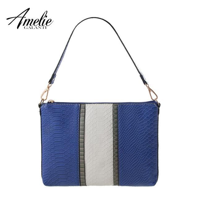 AMELIE GALANTI 2016 новинка лоскутное серпантин одного плеча женщины сумка бесплатная доставка