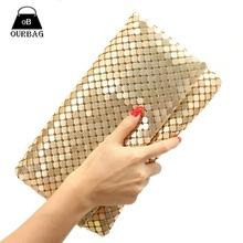 Neue 12 Farben Frauen Abendtasche Tageskupplungen Aluminium Mesh Umschlagklappe Taschen Pailletten Lange Kette Handtaschen Korean Mode(China (Mainland))