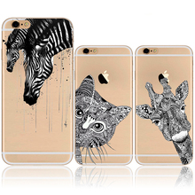 Clear phone Cases iphone 5 5S SE 6 6S 6Plus 6s Plus Soft TPU Silicon Transparent Thin Cute Cat Owl Animal pattern shell - T-LGD Technology Co,.Ltd store