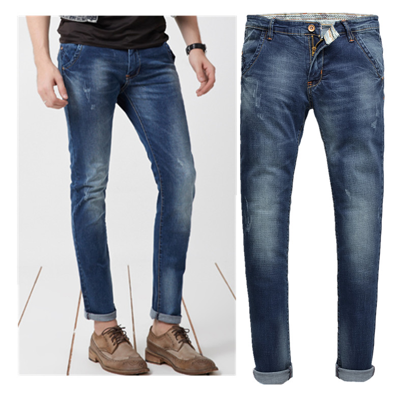 New Arrival True Jeans Men Brand High Quality Italian Style Of Men's Jeans  Stretch Skinny Slim Fit 220 Size28-36 OEM