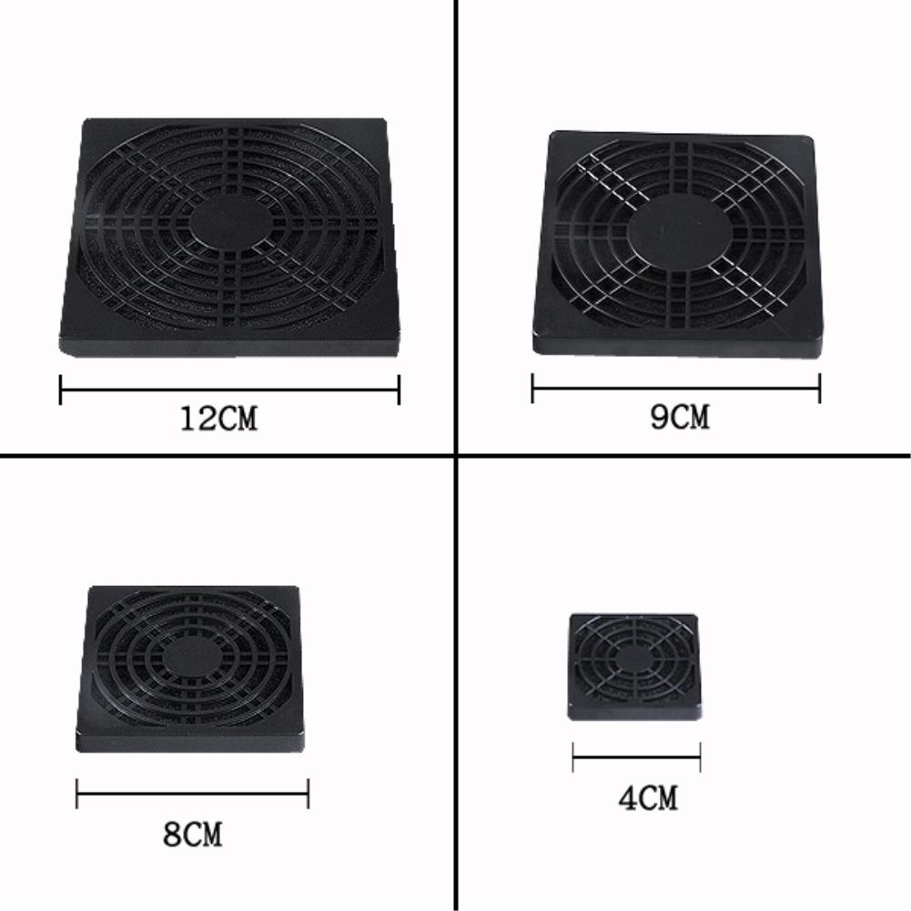 40mm 60mm 80mm 90mm PC Fan Dust Filter Dustproof Case Computer Mesh(can cut for smaller fans) EL4938(China (Mainland))
