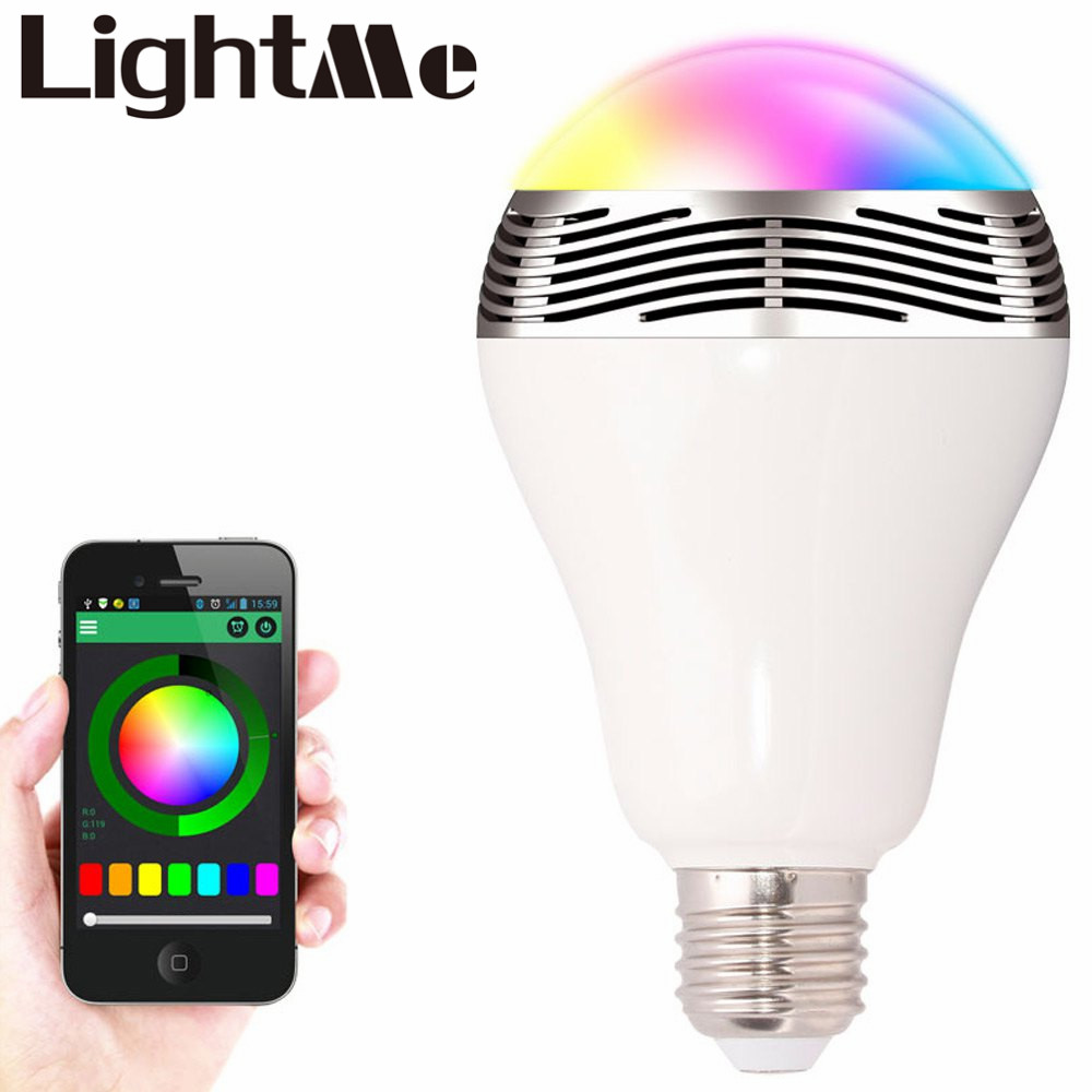 Smart Bulb E27 LED RGB Light Wireless Music LED Lamp Bluetooth Color Changing Bulb App Control Android IOS Smartphone(China (Mainland))