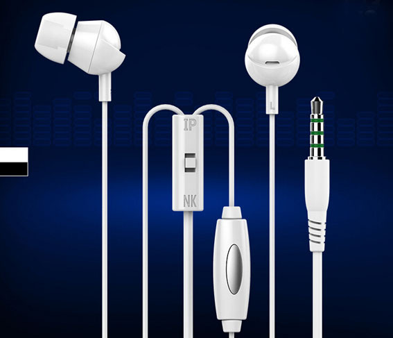 3.5mm Stereo Bass earphone Headphone Headset With Mic ear cup Handsfree for phone iphone 4 4S 5 5S 6 Samsung HTC Xiaomi Sony IN3(China (Mainland))