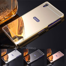 """Buy Sony Xperia Z5 Compact Case 4.6"""" NEW Luxury Plating Aluminum Frame + Mirror Acrylic Back Cover Sony Z5 Mini Phone Cases for $2.79 in AliExpress store"""
