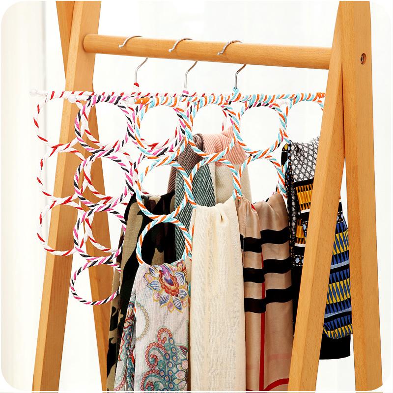 MOYLOR Q Free Shipping Household Folding Belt Storage Rack Storage Rack Hanging Shelf Silk Scarf Circle(China (Mainland))
