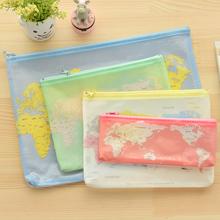 Creative world Map Pattern A4 A5 B6 Mini File Bag Document Bag A4 File Folder Stationery Filing Production(China (Mainland))
