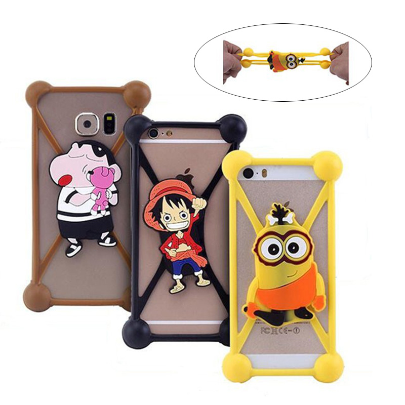 Universal Mobile Phone Cases Fashion Cartoon Imported Silicone Anti Fall Protection Stretching Not Deformation Free shopping(China (Mainland))