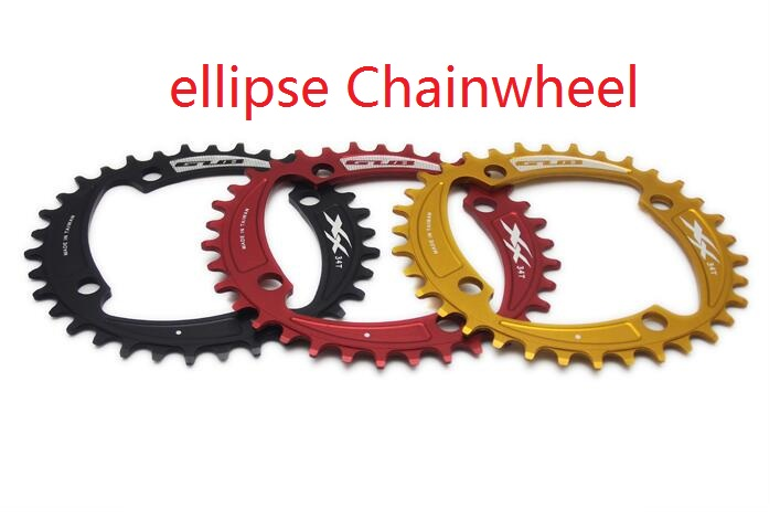 Mountain Bike Cycling MTB ellipse Chain Ring bicycle crank chainring tooth Disc Crankset Chainwheel 34T 36T BCD 104mm(China (Mainland))