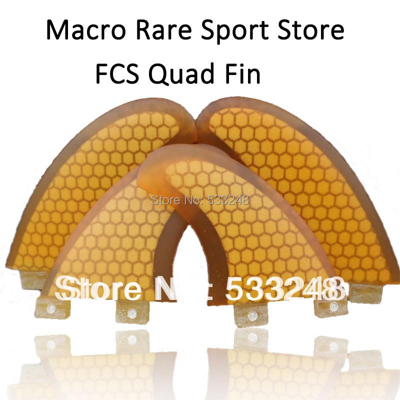 Blue FCS quad surf fins/new arrival fiberglass honeycomb fcs quad fins set/ Macro Rare 4 pcs /set FCS surf fin(China (Mainland))