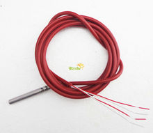 4 Wire PT100 Temperature Sensor RTD thermistor with Silicone Gel Coated 1.5Meters Wire Probe 45mm*5mm -50-180 centigrade(China (Mainland))