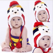 Autumn And Winter Korean Warm Caps for children Cubs Child Woolen Ear protection Hat Kawaii Baby Wool cap(China (Mainland))