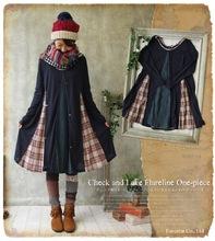 Autumn Japan Korean Style Mori Girl Kawaii Lolita Brief Cotton Patchwork Lace Mesh Lady Full Sleeve