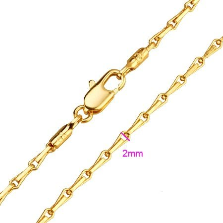FREE SHIPPING!!! QUALITY WOMEN'S 24KGP YELLOW GOLD CHARM CHAIN NECKLACE, COME WITH A FREE EXQUISITE GIFT BOX! (XX1208-JC302)