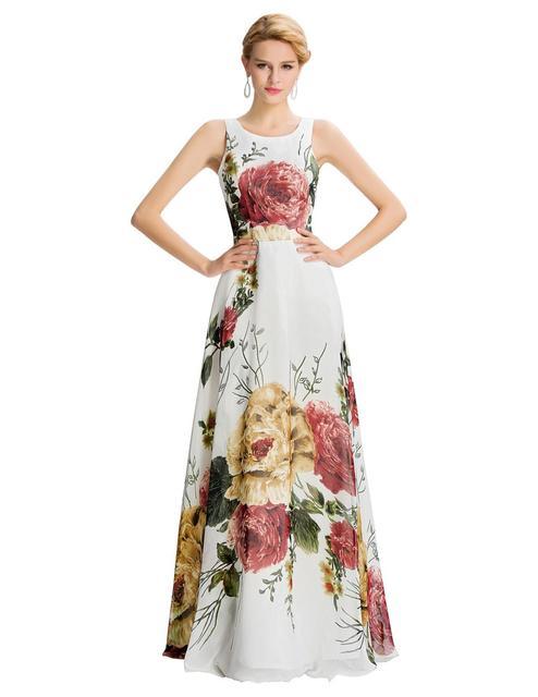 Вечерние платья грейс карин 2016 цветок цветочный печатных восточный вечерние платья ...