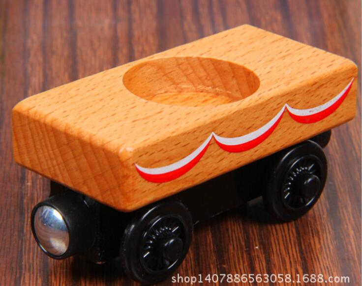 Wood Train Toy Magnetic Thomas And Friends Wood Color Carriage Wooden Train Kids/Child Gift Christmas Gift(China (Mainland))