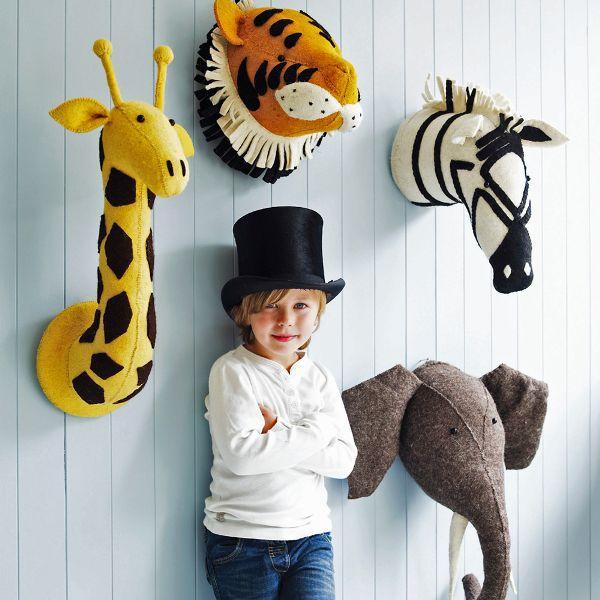 Фотография 2016 Plush Toys Giocattolo Fenicottero Giraffe Fox Zebra Elephant Wall decoration Pendant mural Cartoon Zoo birthday gift