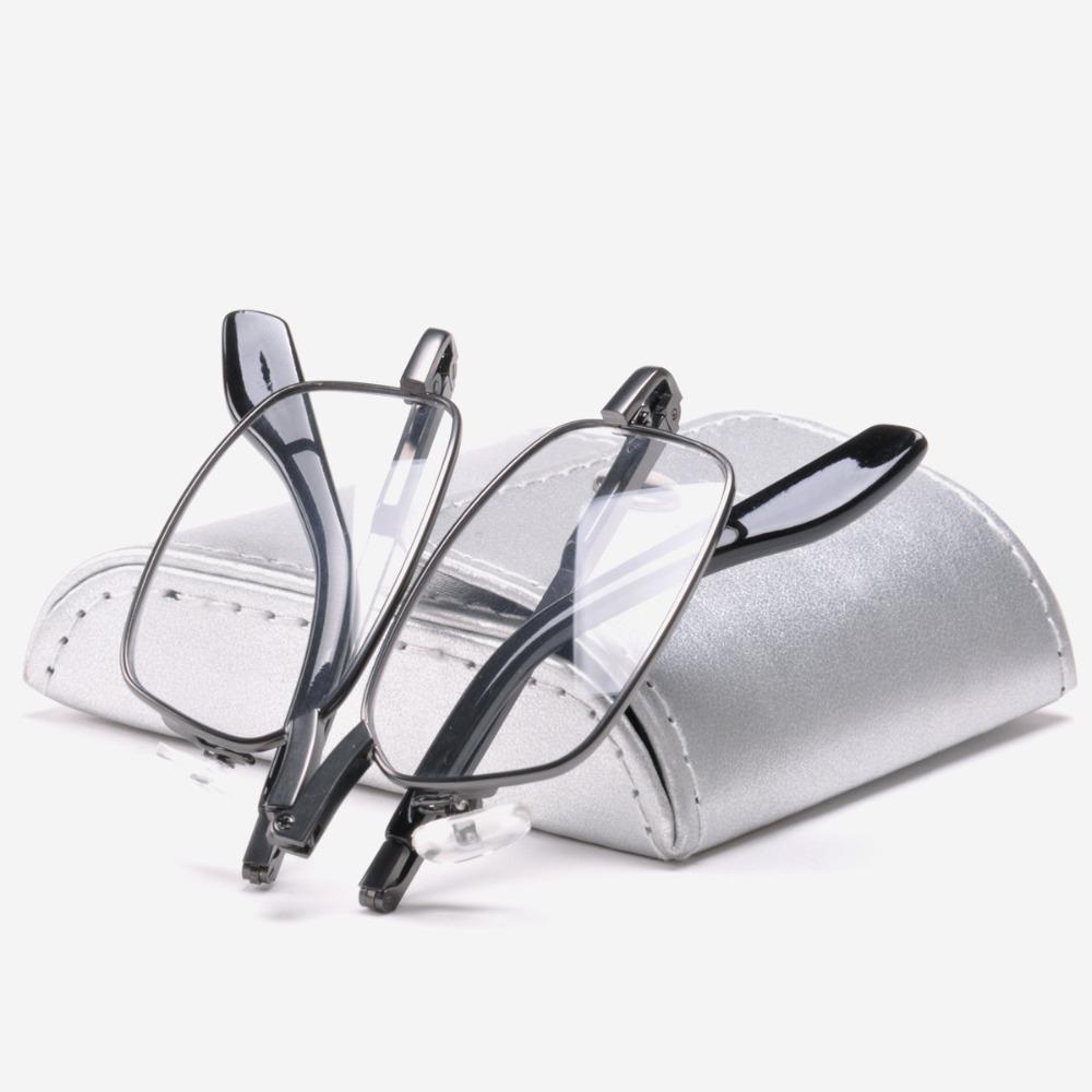 Foldable Eye Glasses Quality Eyewear Female and Male Folding Away Reading Glasses with Case(China (Mainland))
