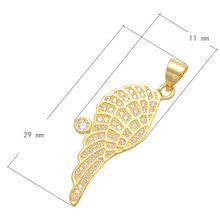 Latest Zircon Charm Jewelry 2016 Fashion CZ Platinum Colors Wing Necklace Pendant