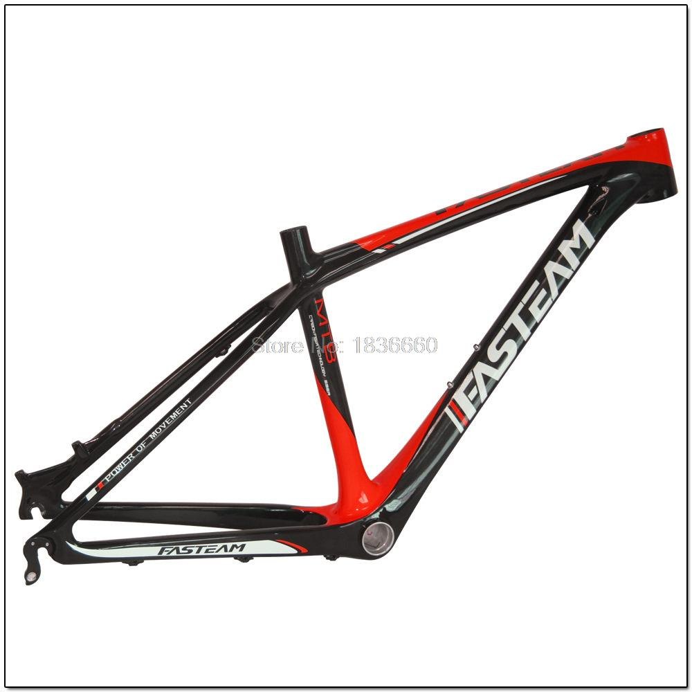 2015New Hi-Q All Carbon Fiber MTB Frame bicycle 26*14/16 inch 1180g Super light bike china Mountain Lightweight Frames Black Red(China (Mainland))