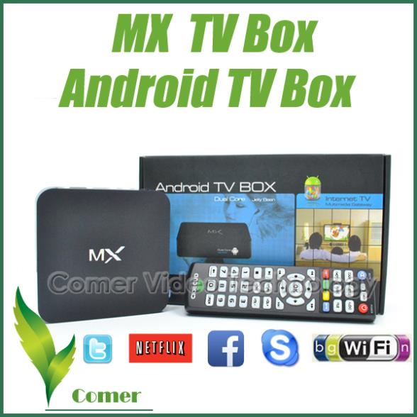1piece MX Android TV Box Dual Core with XBMC, Dual Core MX Android TV Box MX Android 4.4 Mail 450 1G/8G 4K DLNA PC TV Box(China (Mainland))