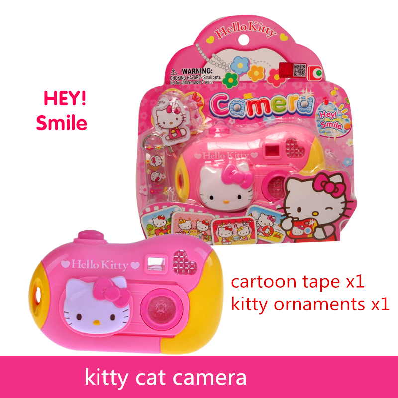 Toy Cameras ABS Cute pink camera 18*4*18CM Baby toy cameras good quality tell story change pictures good gift for kids kitty(China (Mainland))