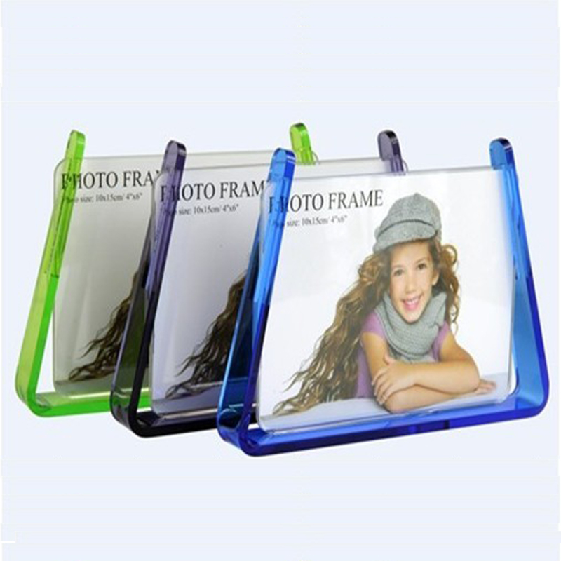 Acrylic Photo Frame Self-standing Desk Frame Advertisement Holder PF020(China (Mainland))