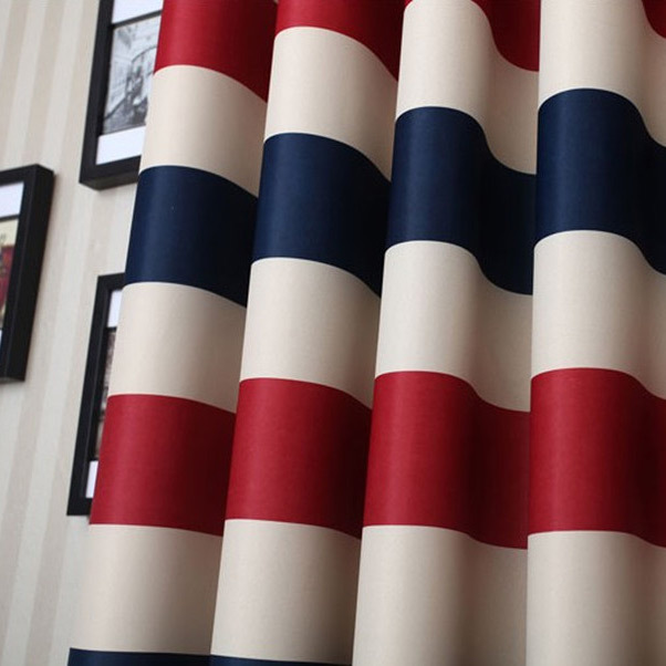 Striped curtains uk curtains red blue striped