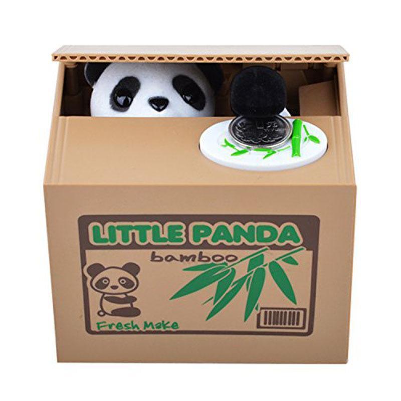 NEW Itazura Automated Cute Panda Steal Money Coin Piggy Bank Saving box