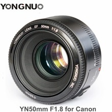 Buy YONGNUO YN50mm F1.8 Standard Prime Lens Large Aperture Auto Focus Lens Canon EF Mount Rebel 650D 700D 7D 5D DSLR Camera for $49.99 in AliExpress store