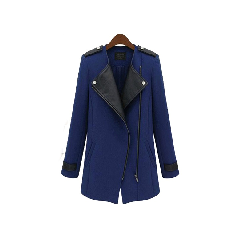 Factory Price New Promotion Black/ Blue Plus Size Leather Zipper Overcoats Fashion Casual Warm Coats Cool Jacket for FemaleОдежда и ак�е��уары<br><br><br>Aliexpress