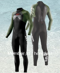 man neoprene 4/3mm long sleeves wetsuit with nylon both side(China (Mainland))