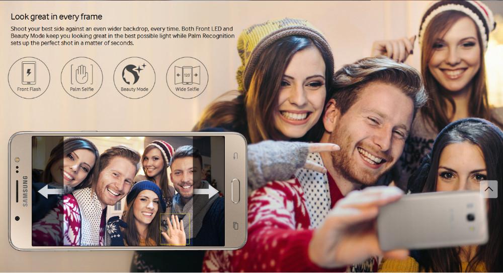 Samsung Galaxy J5 (2016)  5.2 inch 2GB RAM 16GB ROM Quad Core Snapdragon 410 3100mAh Dual SimFDD LTE Smartphone