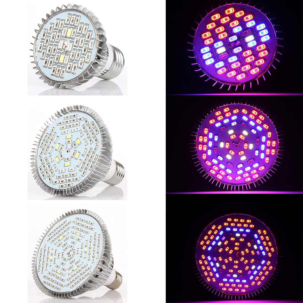 Full Spectrum Led Grow Light 30W 50W 80W E27 Led Grow Lamp Bulb Red+Blue+White+IR+UV For Hydroponics System Flower Plant Grow(China (Mainland))