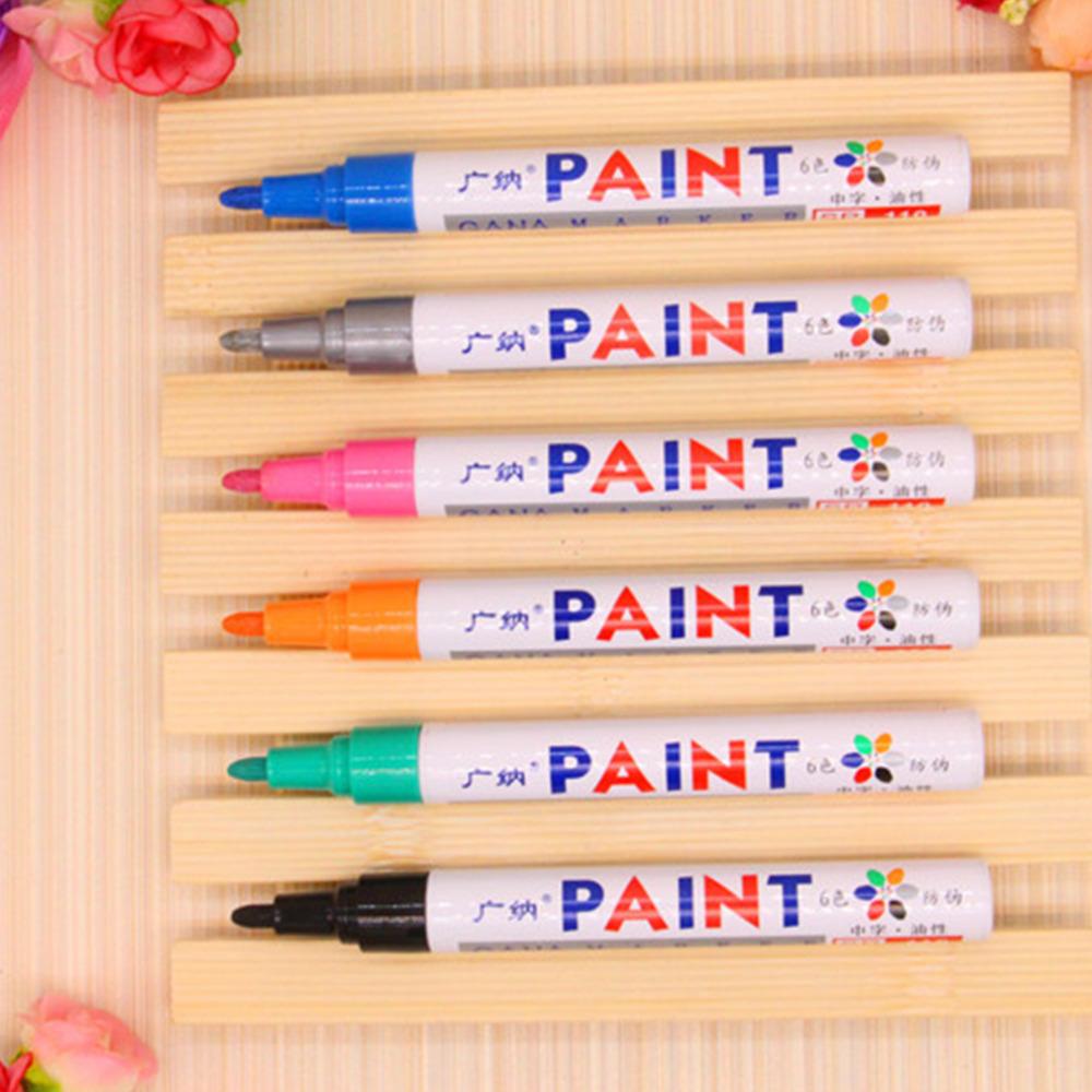 Edfy многоцветные водонепроницаемый постоянный краска маркер для автомобилей жк-шин протектора резина металл подправить ремонт маркер краска Pen
