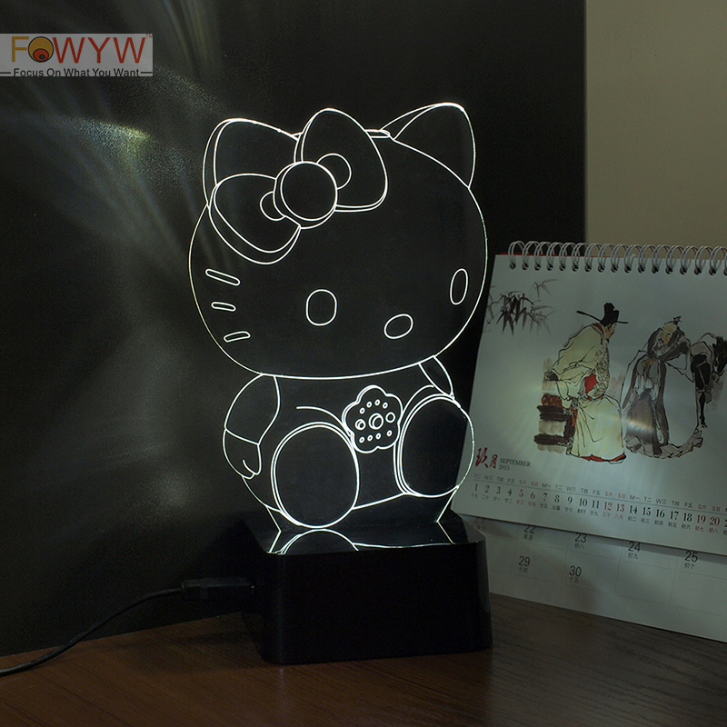 Hello Kitty 3d night Light<br><br>Aliexpress