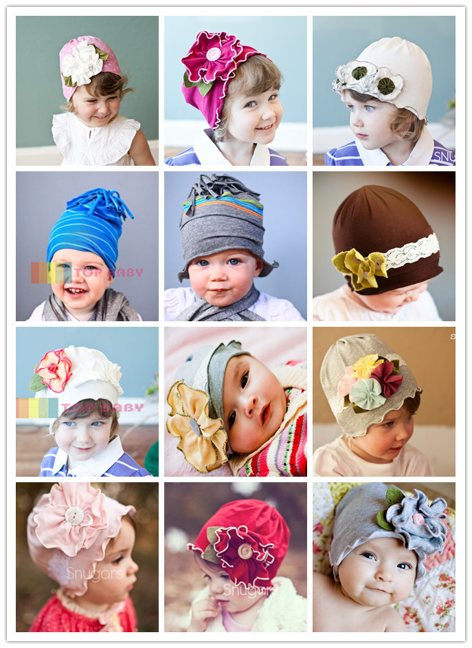 5 Pieces/lot-21 Designs Kids Crochet Hat/Flower Baby knitting knitted Hat cap/Handmade toddler infant hat/Children's beanie(China (Mainland))