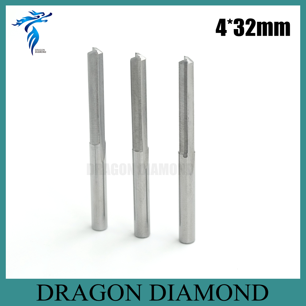Hot Selling 10pcs 4*32MM 2 Straight Flutes Carbide Milling Cutter, Cutting Tools, CNC Router Bits on Carving Engraving Machine(China (Mainland))
