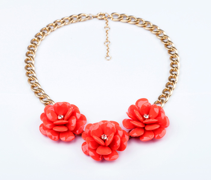 Fashion fashion accessories handmade large flower pendant sweater necklace<br><br>Aliexpress