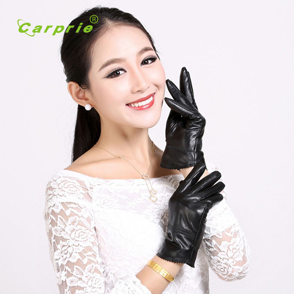 Black Lambskin Women Leather motorcycle Driving gloves protect hands full finger guantes moto motocicleta guantes ciclismo feb27(China (Mainland))