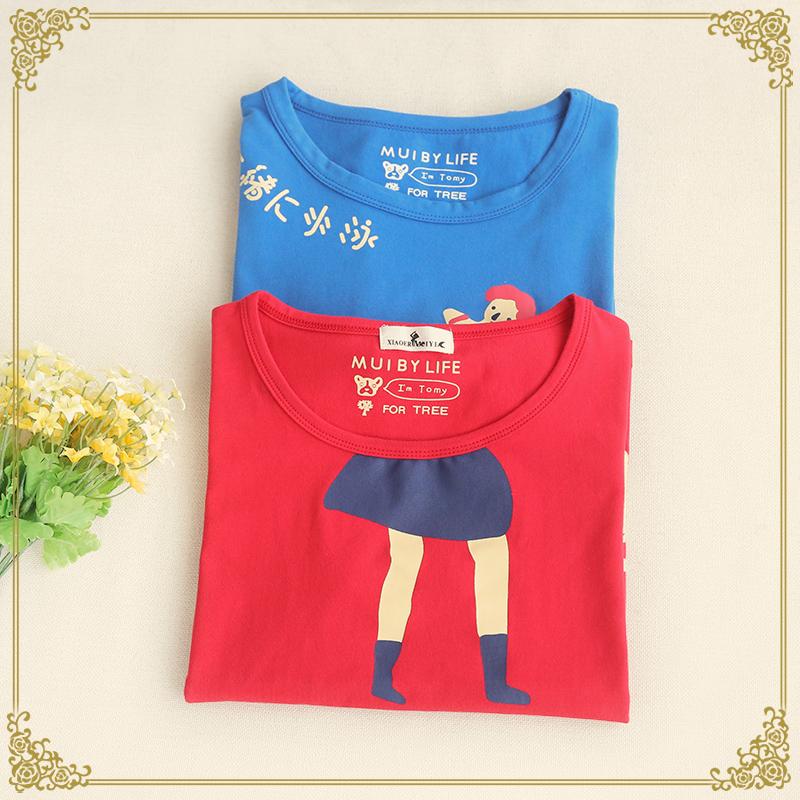 2016 new summer dress female fitness characters printing girl logo T-shirt(China (Mainland))