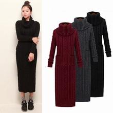 Buy 2017 Winter Women Sweater Dress Korean High-Necked Long Slim Twist Turtleneck Knitted Sweater Dress Women Winter Dress for $20.00 in AliExpress store