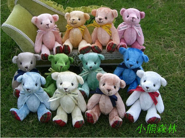 Genuine Plush Toys Joint Bears Cartoon Bouquets Doll Teddy Bear Pendant Wholesale Baby Toy Stores(China (Mainland))