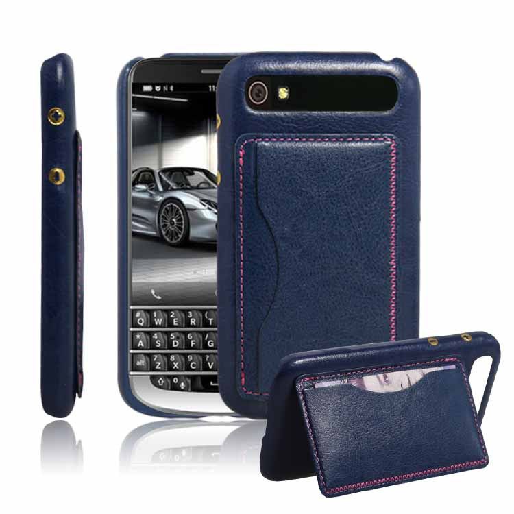 Free Shipping With Stand and Card Slot Luxury Leather Cover Back Case For BlackBerry Classic Q20 (5 Colors Available)(China (Mainland))