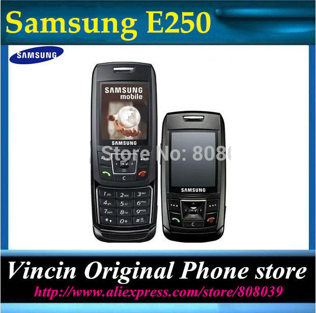 E250 Original Unlocked Samsung E250 E258 mobile phone Bluetooth Camera MP3 FM JAVA Cheap Cell phone 1 year warranty Refurbished(China (Mainland))